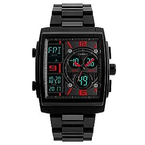 Reloj de pulsera digital para hombre, diseño deportivo y estilo militar, resistente al agua, militar, cronógrafo electrónico, correa de poliuretano, ...