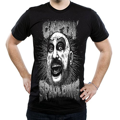 Mazumi8 Captain Spaulding Joker Killer Horror T-Shirt Size L Black (Horror Tshirts)