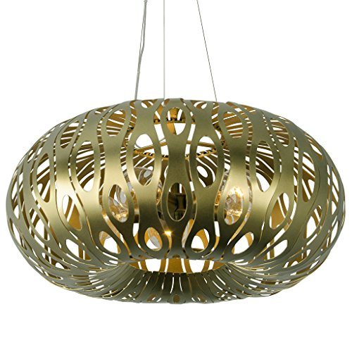 Masquerade 5-Light Donut Pendant - Statue Garden Finish