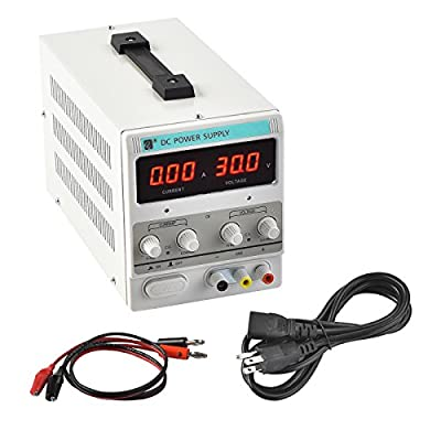 SUNCOO Power Supply Precision Variable Digital Adjustable Dual LED Display US Standard w/Cable