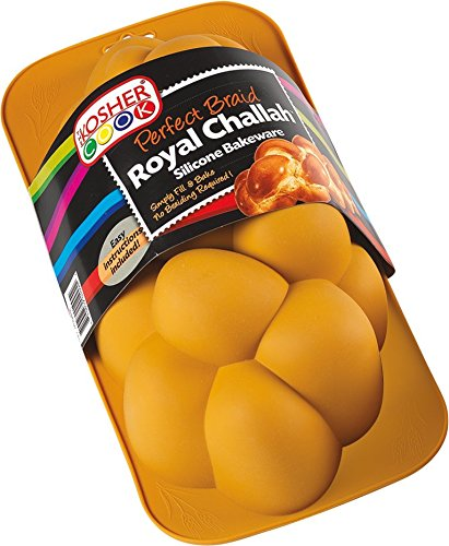 The Kosher Cook Silicone Braided Challah Pan - Perfect Challah Bread Braid Baking Mold, No Shaping Required - Large ()