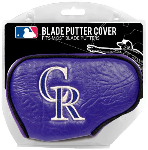 Team Golf MLB Colorado Rockies Golf Club Blade Putter Headcover, Fits Most Blade Putters, Scotty Cameron, Taylormade, Odyssey, Titleist, Ping, Callaway
