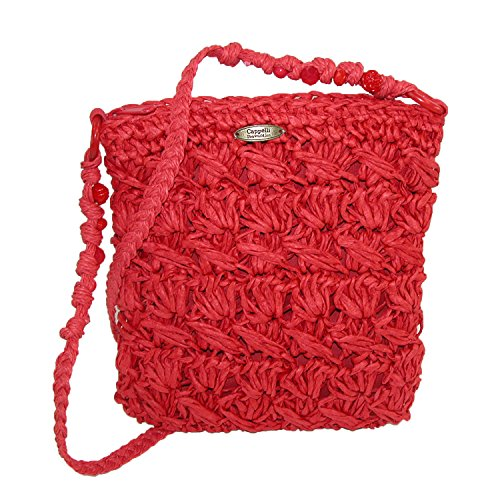 cappelli-womens-crocheted-crossbody-handbag-with-beaded-strap-red