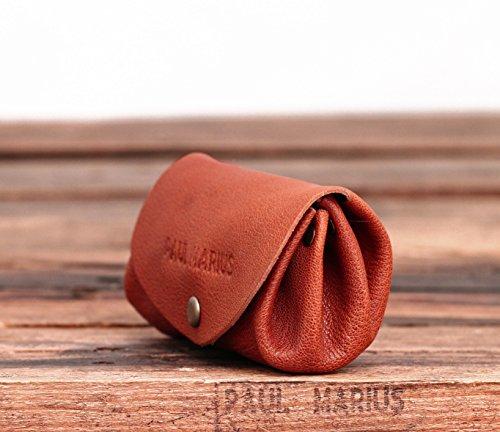 LE GUSTAVE BRUN marrone medio portafoglio in pelle stile monedero epoca PAUL MARIUS