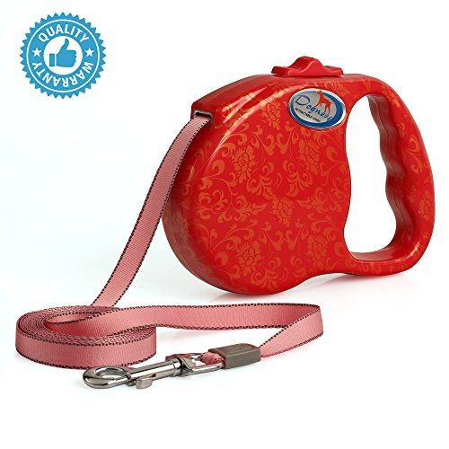 DOGNESS Retractable Dog Leash with One Button Break & Lock System, Reliable Lock No Tangle Durable Leash, Walking Training Jogging for Small Medium Large Dogs (16 ft / up to 90 lbs, (Sussex 12 Light)