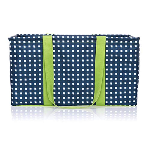 Thirty One Large Utility Tote - 3121 - No Embroidery - in Goin' Gingham