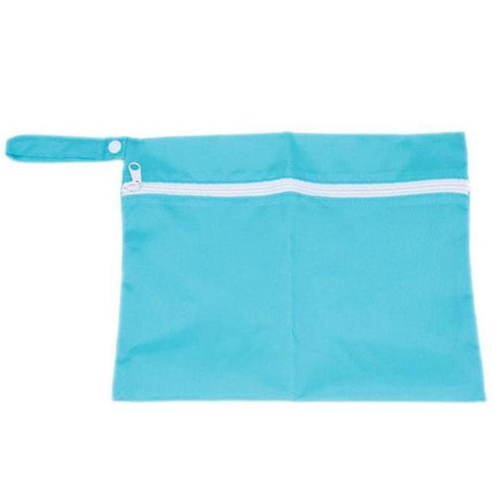 Waterproof Baby Pram Stroller Dirty Cloth Diaper Nappy Storage Organizer Bag Skyblue