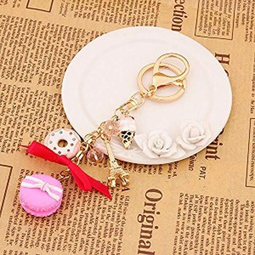 Fairlane Toy - for Women Ladies Girls Key Chains Keyring Key Holder Cake Macarons Toy (Color - Pink)