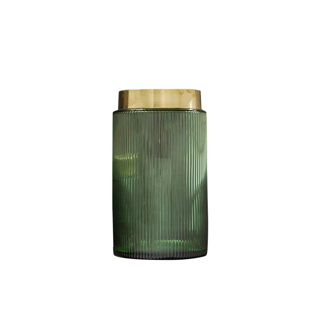 Statua QIQIDEDIAN Decorazione Artigianato Retro verde Glass Grande Vaso Living Creative Home Indoor (Dimensioni   L.)