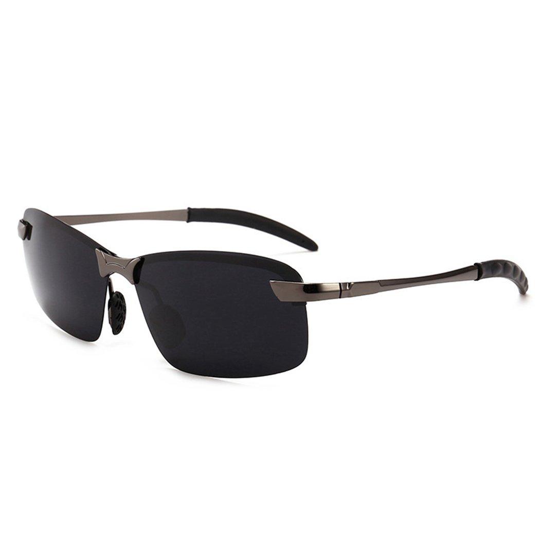 83145829c1 Amazon.com  Fansport Polarized Sunglasses Metal Frame Sunglasses Outdoor  Sunglasses for Men  Sports   Outdoors