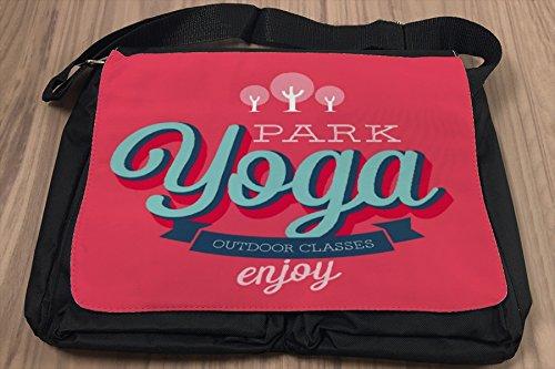Borsa Tracolla Divertimento Yoga Stampato