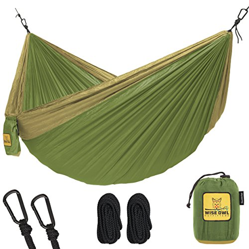 Grizzly Tree Step (Hammock for Camping Single & Double Hammocks - Top Rated Best Quality Gear For The Outdoors Backpacking Survival or Travel - Portable Lightweight Parachute Nylon DO Green & Khaki)