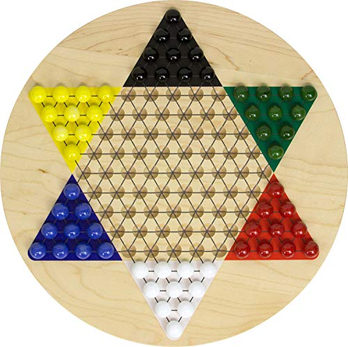 - Printed Maple Chinese Checkers - Made in USA