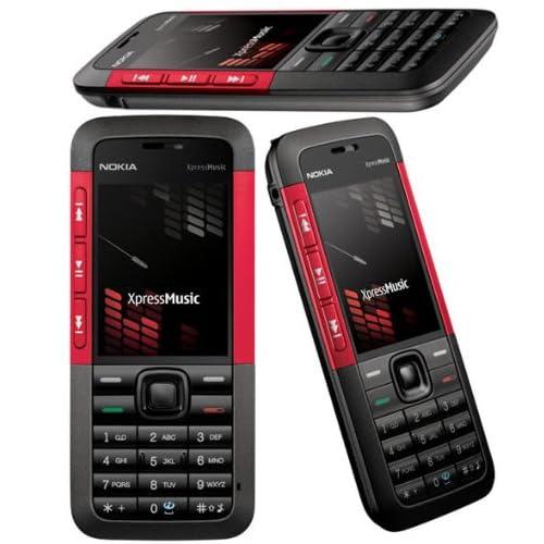 Nokia Téléphone portable 5310 Xpress Music rouge lecteur MP3 / slot mémoire/app.photo 2Mpix