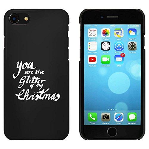 Noir 'Glitter Of My Christmas' étui / housse pour iPhone 7 (MC00075543)