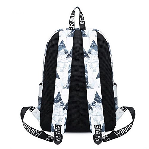 Boys for Waterproof School Fashion Girls Landscape Backpack Fox Lightweight Bookbag White Cute and Acmebon Print 615 wXdqUYX
