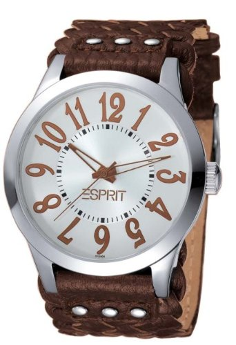 Esprit Damen Armbanduhr LIBERATION WOVEN BROWN A.ES102412005