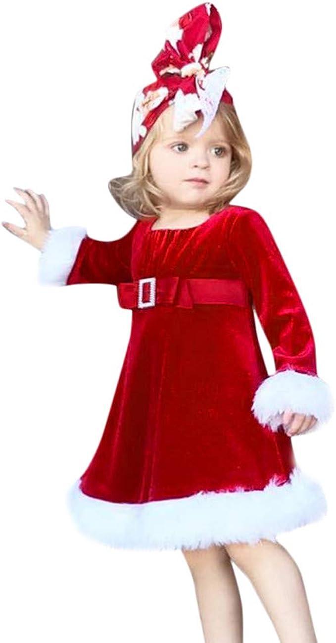 Disfraz Navidad Bebe Niña 1-5 años Franela Vestido de Princesa ...