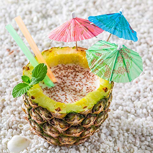 BOAO 288 Pieces Colors Flowers Drinks Cocktail Umbrella Decor, Cupcake Toppers Umbrella Paper Cocktail Drink Parasols Tropical Drink Umbrella Picks for Hawaiian Party and Pool Party Supplies by Boao (Image #5)