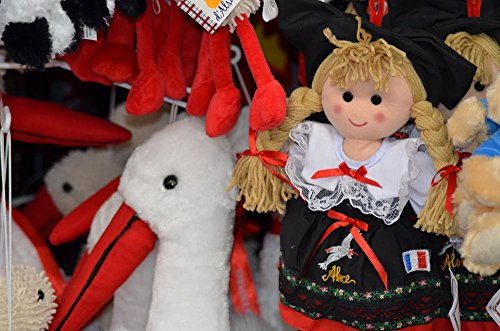 [LAMINATED 36x24 Poster: Alsace Doll Alsatian Doll Traditional Costume France Stork Memories Petite France Strasbourg Store Small-France Trade] (Alsace Traditional Costume)