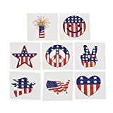 Fun Express Temporary Patriotic Tattoos Stickers - 72 Pieces
