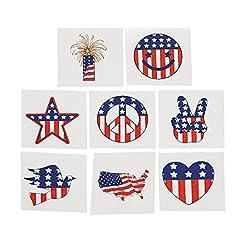 Fun Express Temporary Patriotic Tattoos Stickers - 72 Pieces