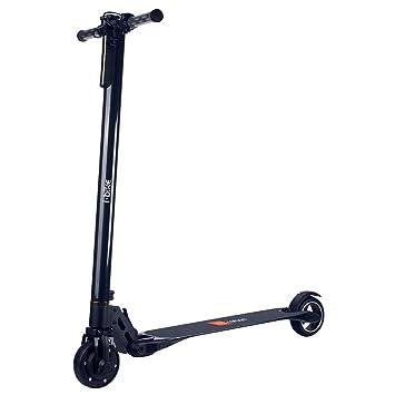 MOMO Design - i-Bike - Patinete Eléctrico de Fibra de Carbón con Ruedas DE 12,7 cm de Diámetro (5 Pulgadas). Color Negro: Amazon.es: Deportes y aire libre