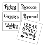 Wedding Stencil Words - Locations - Elegant Traditional 6pc Jumbo Set - STCL1597_4 by StudioR12