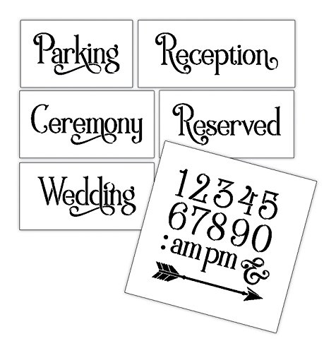 Wedding Stencil Words - Locations - Elegant Traditional 6pc Jumbo Set - STCL1597_4 by StudioR12 by Studio R 12