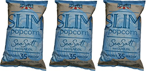 American Farmer Popcorn, Slim Pop Flavored (6oz bag, 3Pack), Gourmet Kettle-Cooked Salted Popped Corn, All-Natural, Fresh Popcorn, Non-GMO, Gluten Free, Certified Kosher (Formula Bag 6 Ounce)