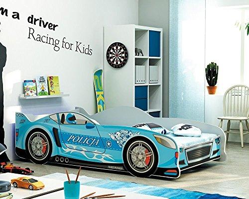 Letto a forma di macchina per bambini 160x80 con materasso: Amazon ...