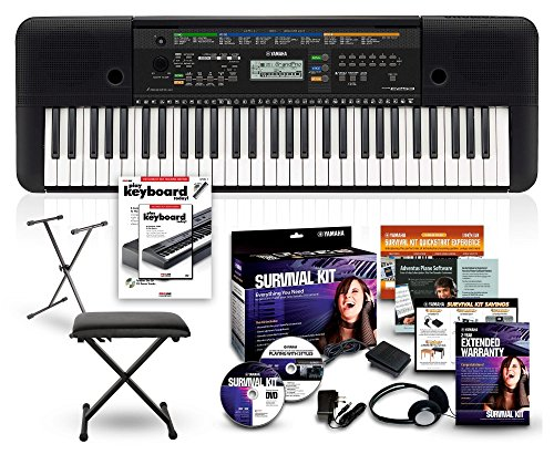 Yamaha Psre   Key Portable Keyboard Package Black