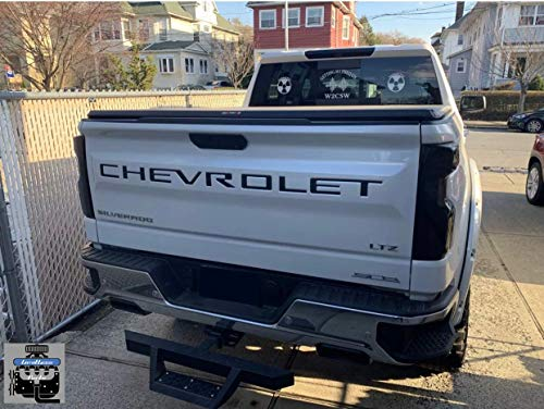 Limitlessparts Matte Black Tailgate Letters for Chevrolet Silverado 2019 Plastic Inserts