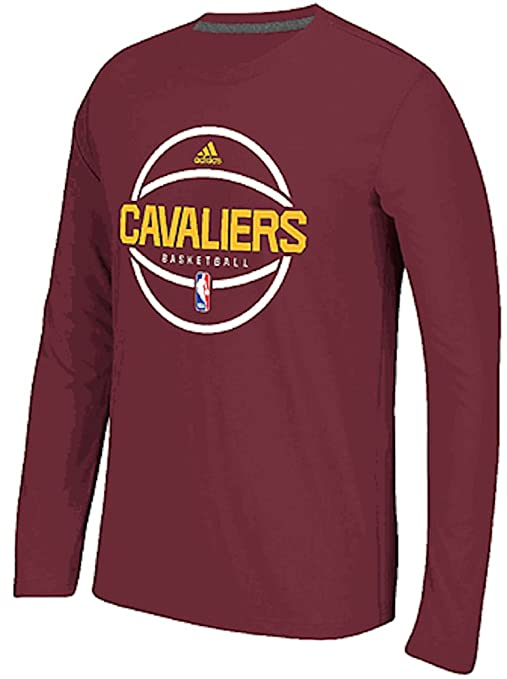 best quality 0817d bea85 Cleveland Cavaliers Men's adidas Heathered Maroon Climalite T-shirt