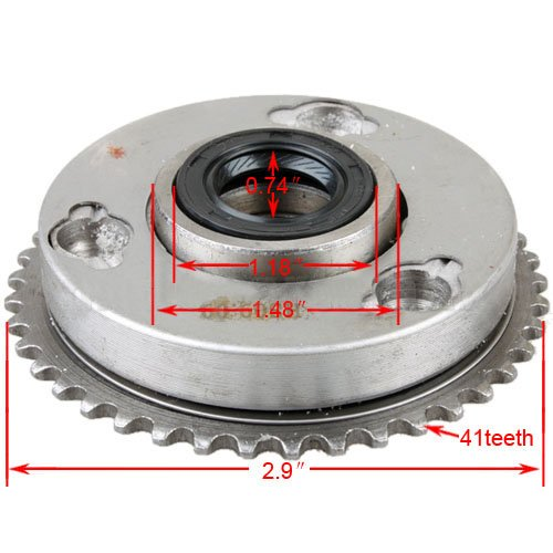 - X-PRO Starter Drive Clutch Assembly for 50cc 70cc 90cc 110cc 125cc ATVs, Dirt Bikes, Go Karts