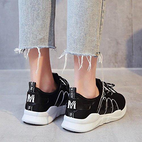 atléticos respirable Blanco Zapatillas Rosa Zapatos aire GAOLIXIA Negro Zapatos mujer para Zapatos al Black viaje libre de correr para deporte Zapatos Comodidad casuales de dORqIIw