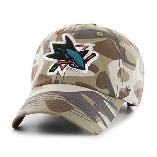 NHL San Jose Sharks Women's Sparkle Camo Clean Up Adjustable Hat, One Size, Faded - San Sharks Jose Socks Hockey