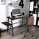 GreenForest Home Office Desk Kids Computer Desk Writing Table with Adjustable Shelf Simple Workstation, Coffee Color