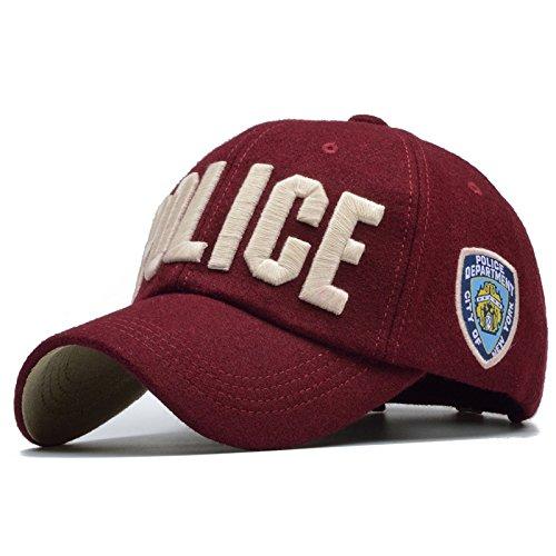 Meaeo Carta De Policía Gorra De Béisbol De Invierno Hombre Mujer Gorro De Invierno Gorras Snapback Hueso Masculino Cálido Trucker Hat Hip Hop