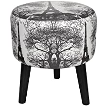 Oriental Furniture CAN-STL-PARIS2-A Eiffel Tower Stool, Multicolored