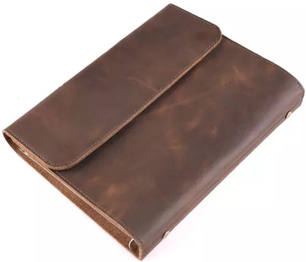 Heavy & Thick Genuine Leather Journal, 9.2'' x 7.2'', Paper Size: A5. A Handmade Refillable Binder Executive Business Notebook, Padfolio, Portfolio, All Natural Leather (Heavy Genuine Leather)