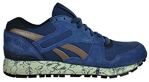 Reebok GL 6000 WRAP Sneaker Womens Damen Classic Leder Schuhe Blau
