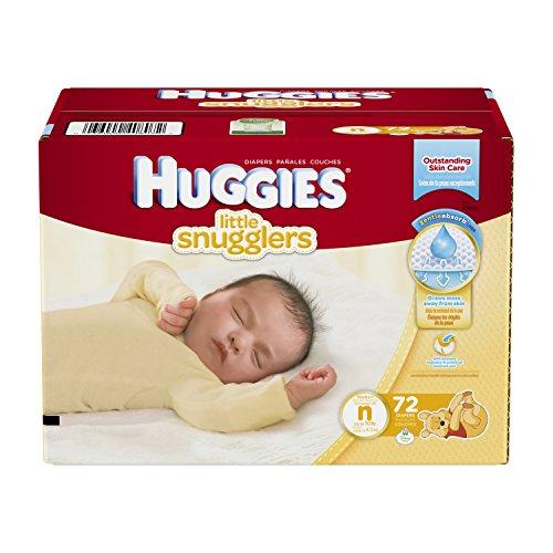 Huggies Little Snugglers Diapers, Newborn, 72 Count (Packaging may vary)