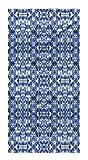 KAVKA DESIGNS Shibori Mirror Bath Towel, (Blue) - SALTWATER Collection, Size: 30x62x.5 - (BBAAVC6502FSBT)