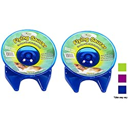 Ware Manufacturing Flying Saucer Exercise Wheel for Small Pets, 5-Inch - Colors may vary (2 Pack)