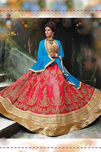 Da Facioun Indian Women Designer Wedding Pink Lehenga Choli Fabz-2067