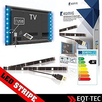 EQT de Tec 2 unidades USB LED stripes rayas + Mando a distancia ...