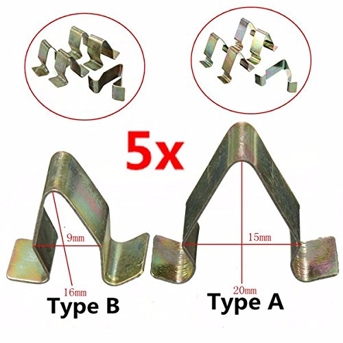 Other Accessories - 5pcs Metal Trim Panel Lining Clips Interior Upholstery Seat - Bronze Instrument Silver Board Liner Gold Impanel Lop Bimetallic Nip Tinny Cut Short ()