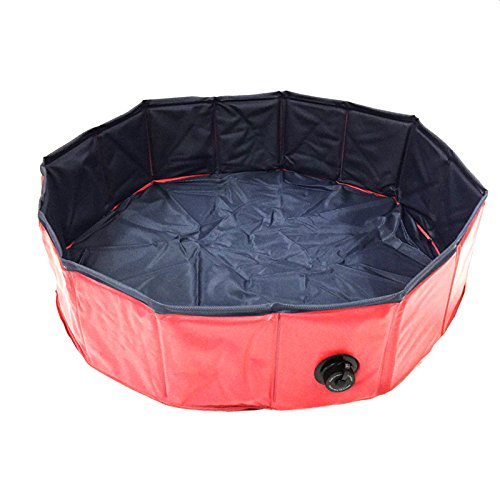 bluee Pet Bath Basin Foldable pet Swimming Pool, cat Dog Swimming Pool, Round pet Bath Pool,bluee