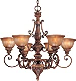 Minka Lavery, 1356-177, Illuminati, 6 Light Chandelier, Illuminati Bronze